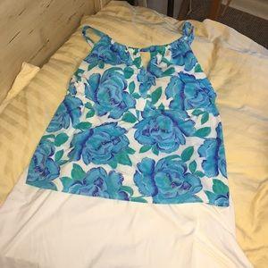 1645ebb8a8c9b EUC Tankini swim top skirt skort Kim Rogers 2X 20W